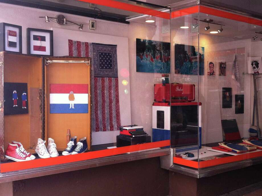 Contributed The window display of artist Pedro Yanowitz on 756 Chapel St. reflects the Independence On9 theme.