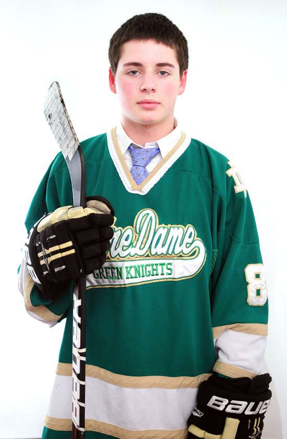 Male Athlete of the Week: Bill Vizzo, Notre Dame of West Haven High hockey. Photo by Arnold Gold/New Haven Register