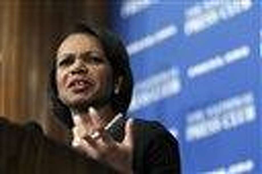 In this 2010 file photo, former Secretary of State Condoleezza Rice speaks at the National Press Club in Washington.  Associated Press Photo: AP / AP