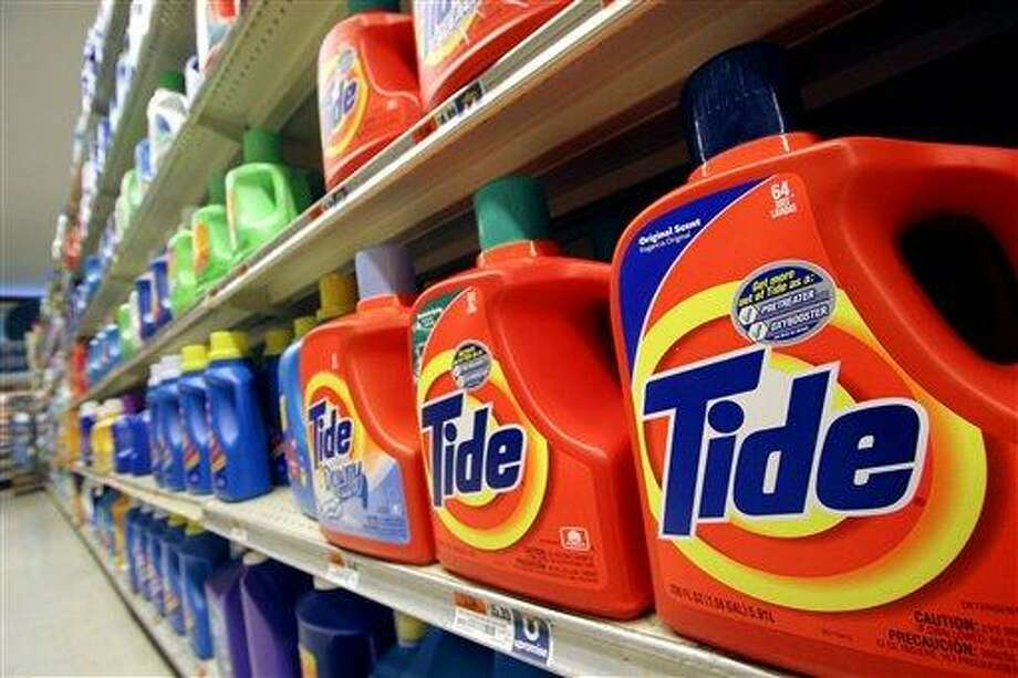 This October file photo shows Tide laundry detergent on a shelf at a New York supermarket. Tide has become a hot commodity for thieves, at least in parts of the country. For a variety of reasons, it's especially well-suited to sale on the black market.  Associated Press Photo: AP / AP2005