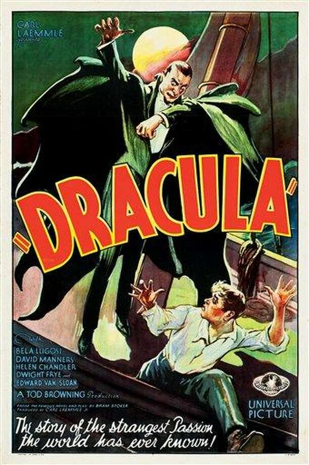 """This February 2012 photo provided by Heritage Auctions in Dallas shows a movie poster for the 1931 poster for """"Dracula"""" starring Bela Lugosi. This and other rare classic movie theater posters found in a northeastern Pennsylvania attic are scheduled to go to auction March 23. Associated Press Photo: AP / Heritage Auctions"""