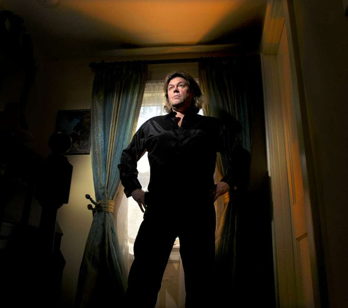 Peter Hvizdak/Register photo: Opera singer Marc Deaton has put a lot of himself into Madison Lyric Stage, a new performing arts group.