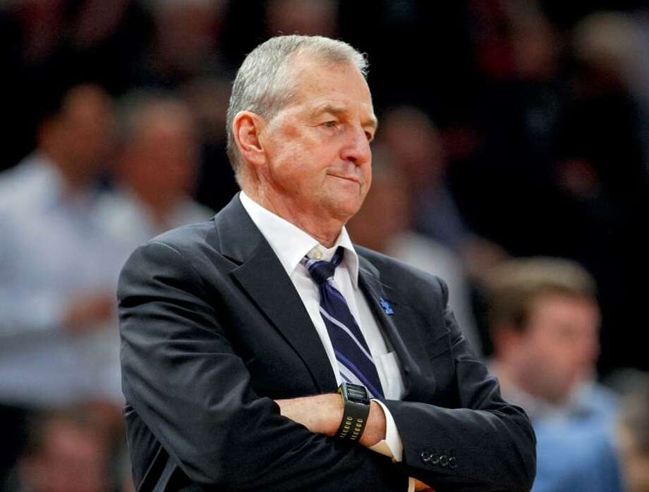 Mar 8, 2012; New York, NY, USA;  Connecticut Huskies head coach Jim Calhoun during the second half against the Syracuse Orange in the third round of the 2012 Big East Tournament at Madison Square Garden. Syracuse Orange defeat the Connecticut Huskies 58-55. Mandatory Credit: Jim O'Connor-US PRESSWIRE Photo: US PRESSWIRE / Jim O'Connor