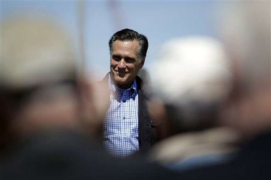 Republican presidential candidate, former Massachusetts Gov. Mitt Romney speaks at the Portsmouth Fish Pier in Portsmouth, N.H., Monday. Associated Press Photo: AP / AP