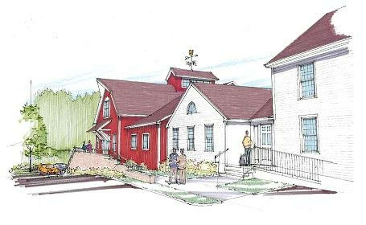 Arist's rendering of Killingworth Town Hall plan.