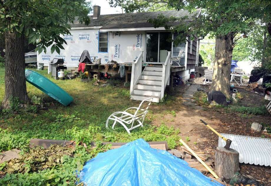 128 Harrison Ave., Milford, a house with a lien on it. Mara Lavitt/New Haven Register
