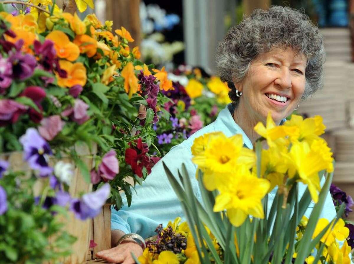 Speaker, author and life coach Millie Grenough of New Haven at Van Wilgen's Garden Center in North Branford. Mara Lavitt/New Haven Register