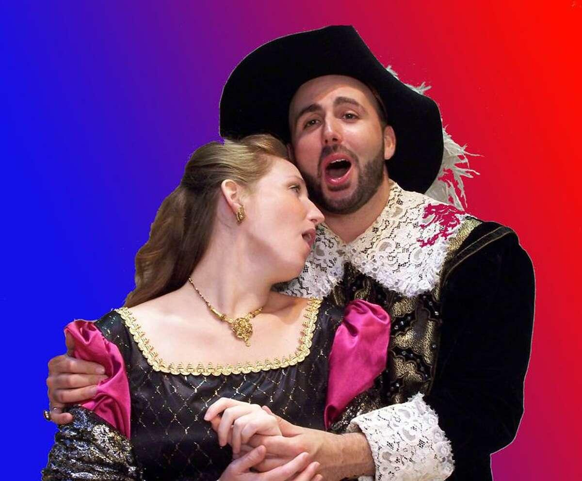 "Alan Casavant photo: Amanda Hall (Lucia) and Luigi Boccia (Edgardo) make their Opera Theater of Connecticut debuts in ""Lucia di Lammermoor."""