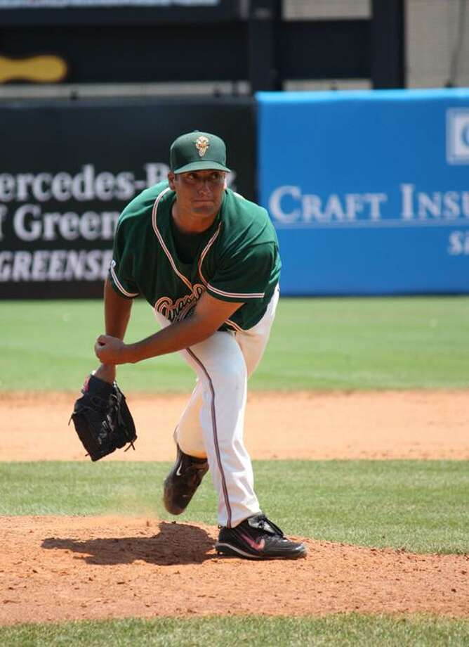 Greg Nappo's first year as a pro has been an adventure for the former UConn standout. (Photo courtesy of Amanda Williams/Greensboro Grasshoppers)