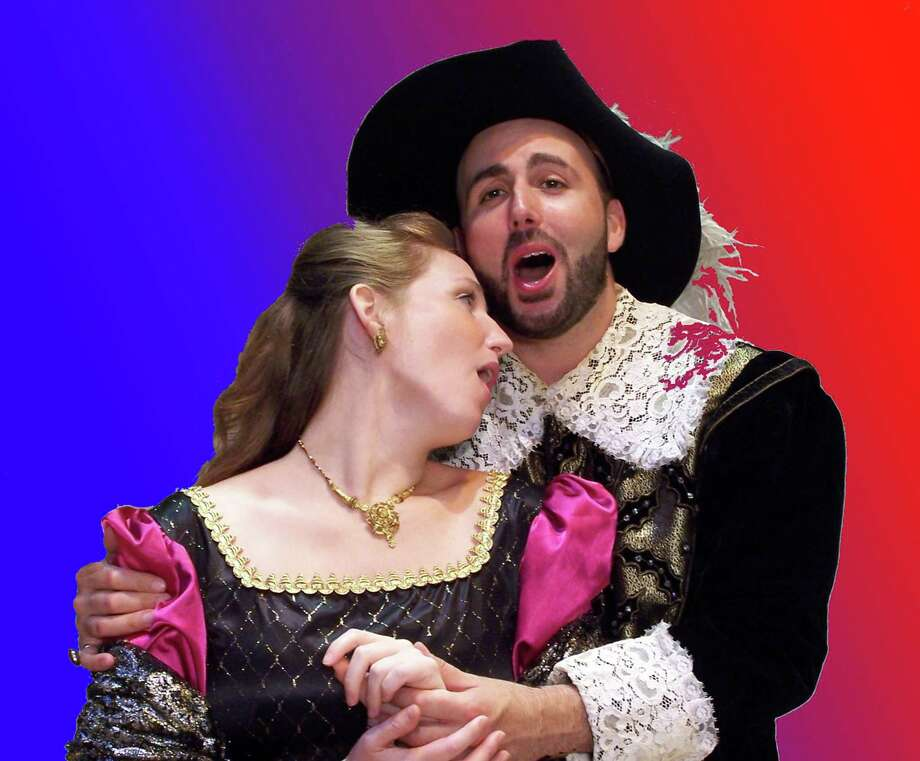 "Amanda Hall as Lucia and Luigi Boccia as Edgardo in Opera Theater of Connecticut's production of ""Lucia di Lammermoor."" (Photo by Alan Casavant)"
