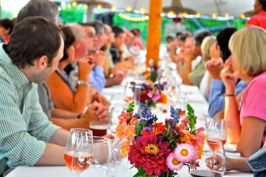 Michelle Parr Paulson photo: Al fresco dining doesn't get much better than Dinners at the Farm, which will be at Barberry Hill Farm in Madison.