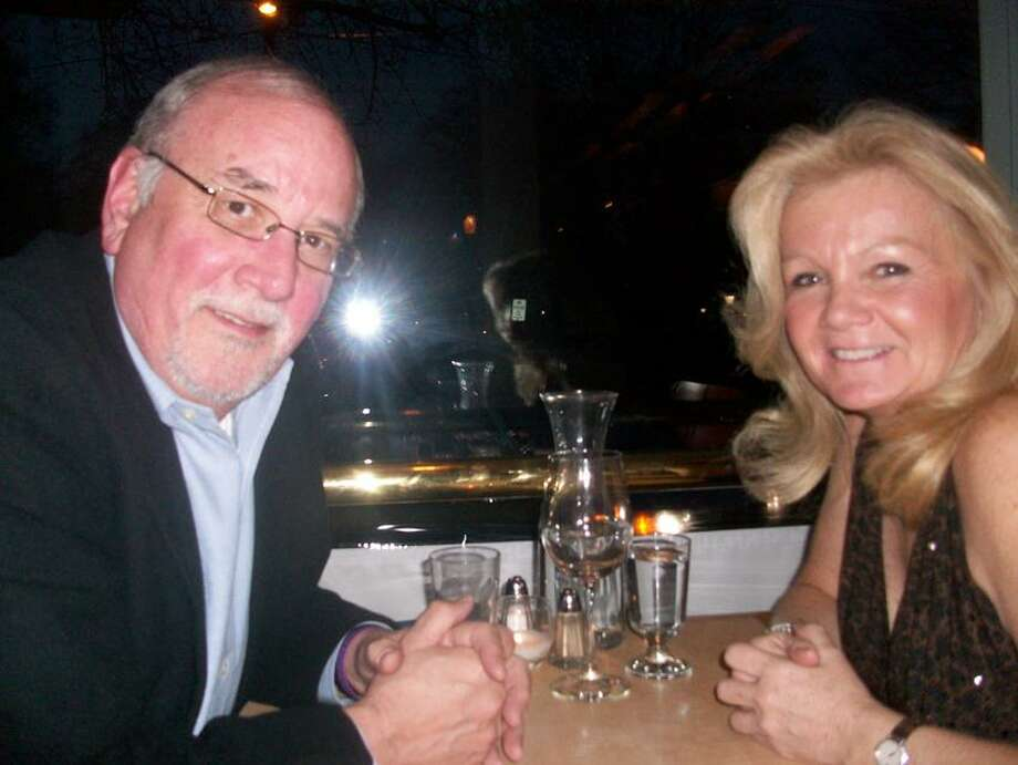Bruce May and Kim Dallas found they had shared values over dinner at Whitfield's of Guilford.