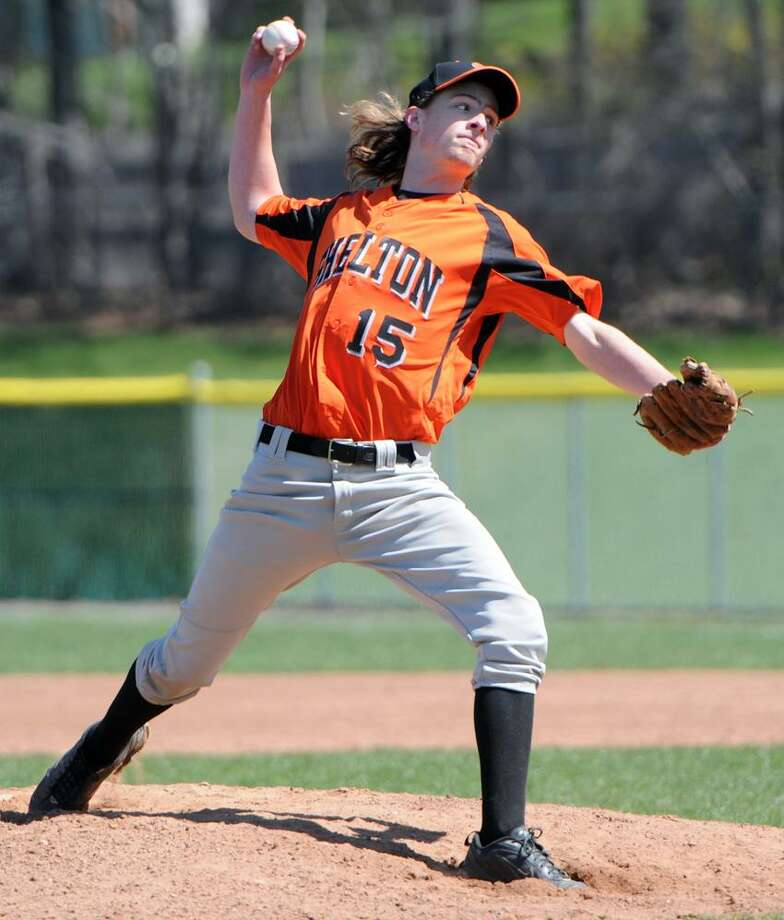 Shelton HS baseball pitcher  Jeremy Soderholm pitches during the 4th inning against Foran High School in Milford Saturday 4/7/12. Photo by Peter Hvizdak/ New Haven Register Photo: New Haven Register / ©Peter Hvizdak /  New Haven Register