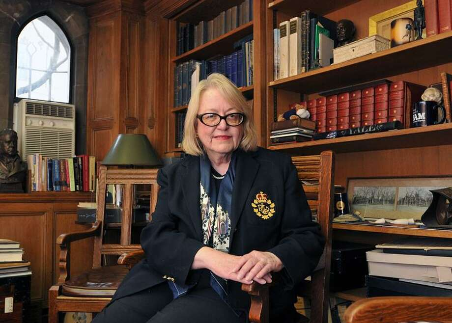 New Haven-- Chief research archivist Judith Schiff has researched the connection between Yale and the Titanic. She has found several students that were survivors. Photo- Peter Casolino/New Haven Register 03/15/12