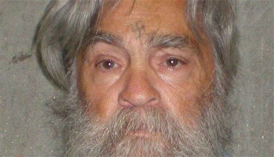 A photo provided by the California Department of Corrections shows 77-year-old serial killer Charles Manson. Associated Press Photo: AP / Copyright 2012 The Associated Press. All rights reserved. This material may not be published, broadcast, rewritten or redistributed.
