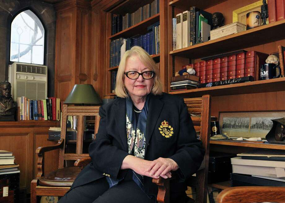 Chief research archivist Judith Schiff has researched the connection between Yale University and the Titanic. She has found several alums that were survivors. (Photo by Peter Casolino/New Haven Register)