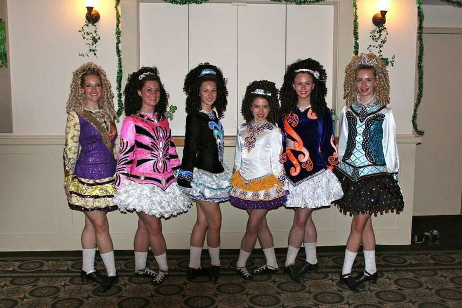 Dancers competing abroad this week include, from left: Erin Collins, 27, of Milford; Erin Kiley, 21, of Hamden; Mary Kate Firisin, 15, of Easton; Emily Lynch, 12, of Seymour; Grace Kiley, 17, of Hamden; and Jamie Rush, 13, of Fairfield. Contributed photo
