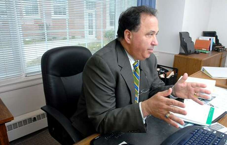 Milford Superintendent of Schools, Dr. Harvey Polansky. Photo by Arnold Gold/Register Staff