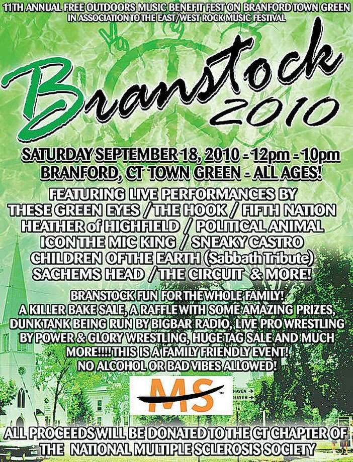 Poster for Branford's 11th annual Branstock.