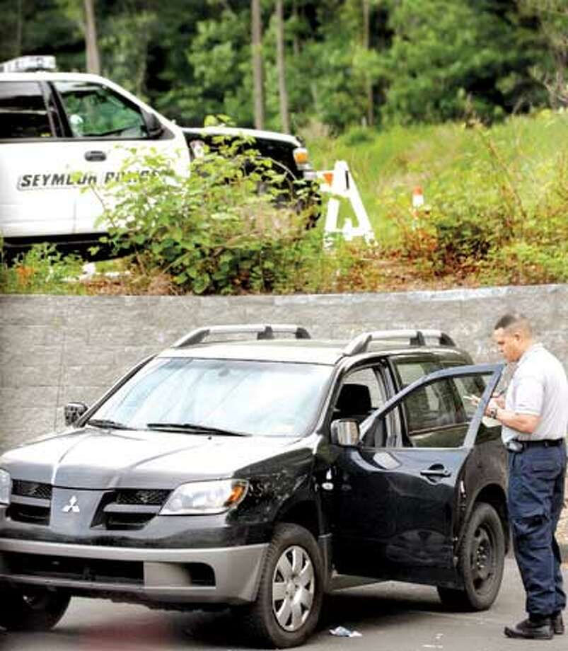Scene of fatal shooting on the Seymour-Oxford town line. (Melanie Stengel/Register)