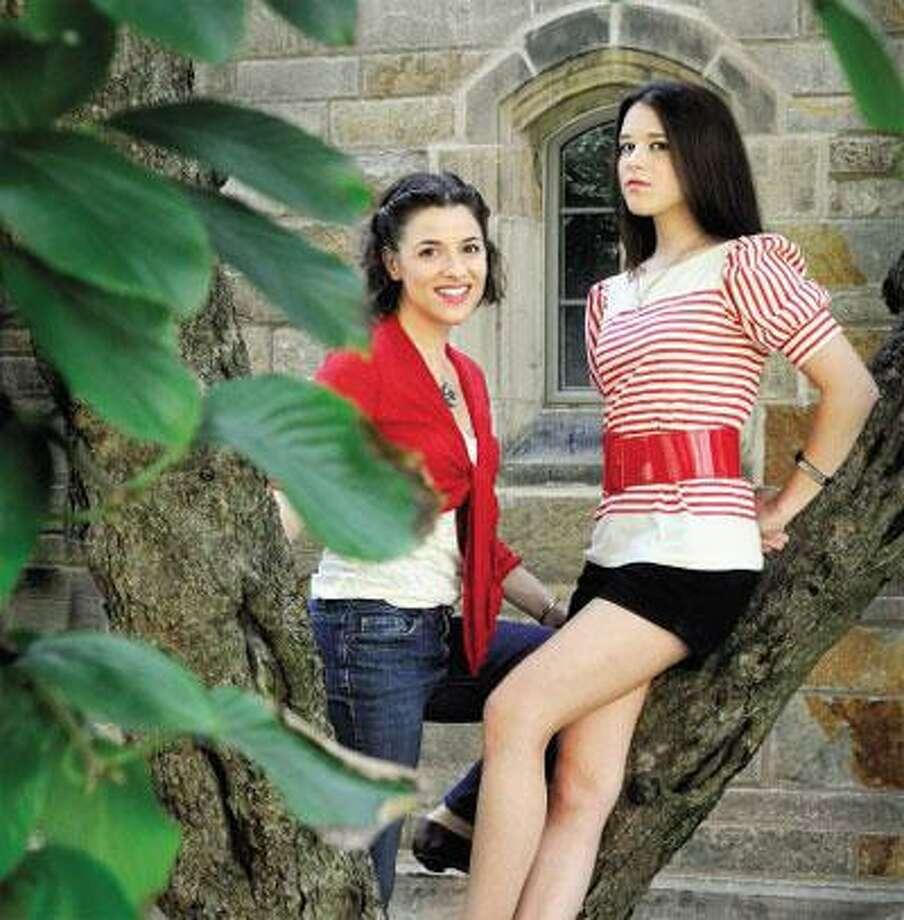Jenn Gambatese, left, and Alexandra Socha seem perfectly cast as the Blackwood sisters. (Melanie Stengel/Register)