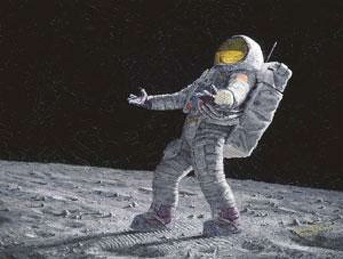 """""""Is Anybody Out There?"""" captures the solitude of the surface. (Alan Bean images)"""