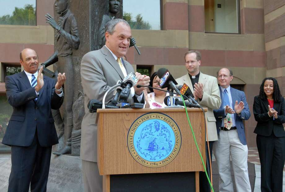 """New Haven Mayor John DeStefano Jr. will join <a href=""""http://newhavenregister.com"""">newhavenregister.com</a> this afternoon at 2 p.m. for a live video chat. (Register File Photo)"""