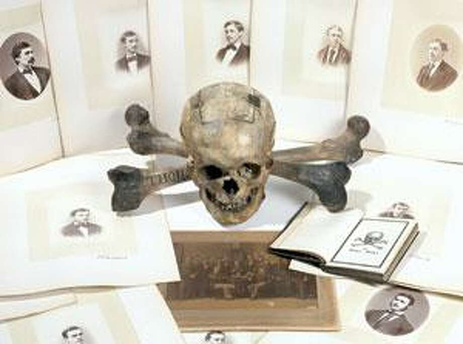 A photo provided by Christie's shows the 1872 ballot box belonging to Yale's secretive Skull and Bones society. The skull and crossbones are expected to bring between $10,000 and $20,000 when they are auctioned off Jan. 22. (AP Photo)