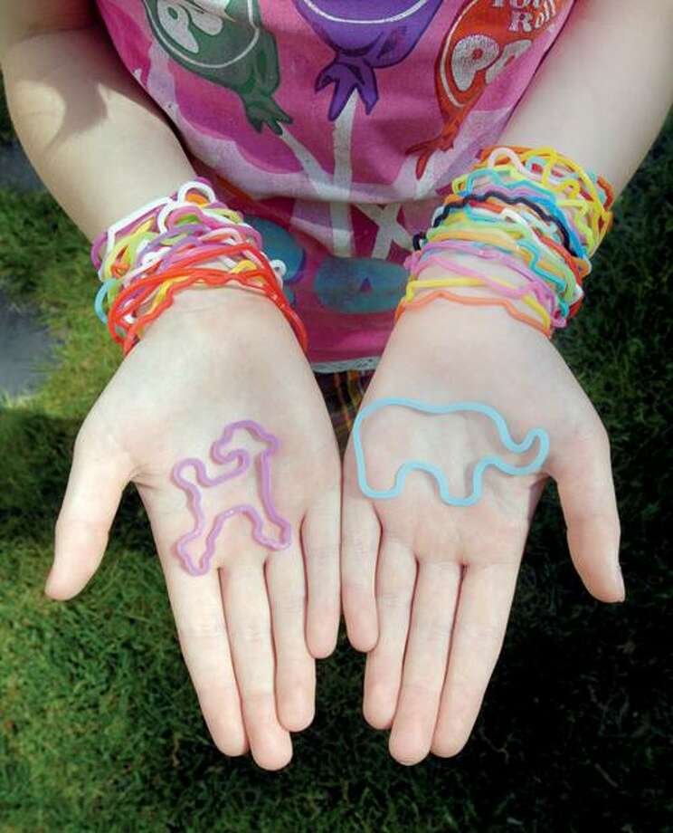 Silly Bandz come in numerous shapes and colors. Mara Lavitt/Register
