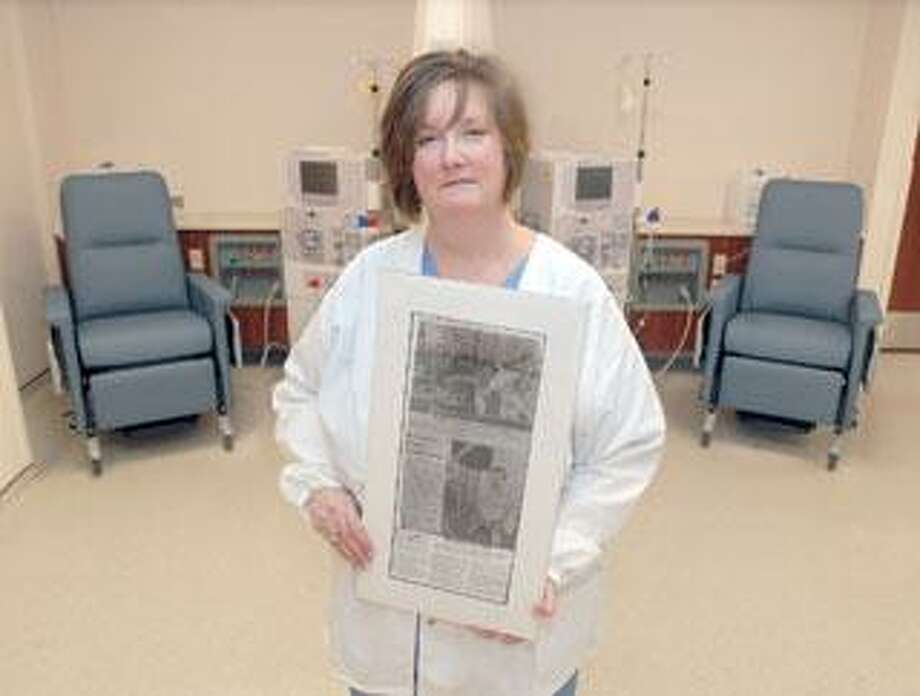 Dawn Lawlor, owner of Liberty Dialysis in Orange, has suffered from kidney disease for years. (Brad Horrigan/Register)