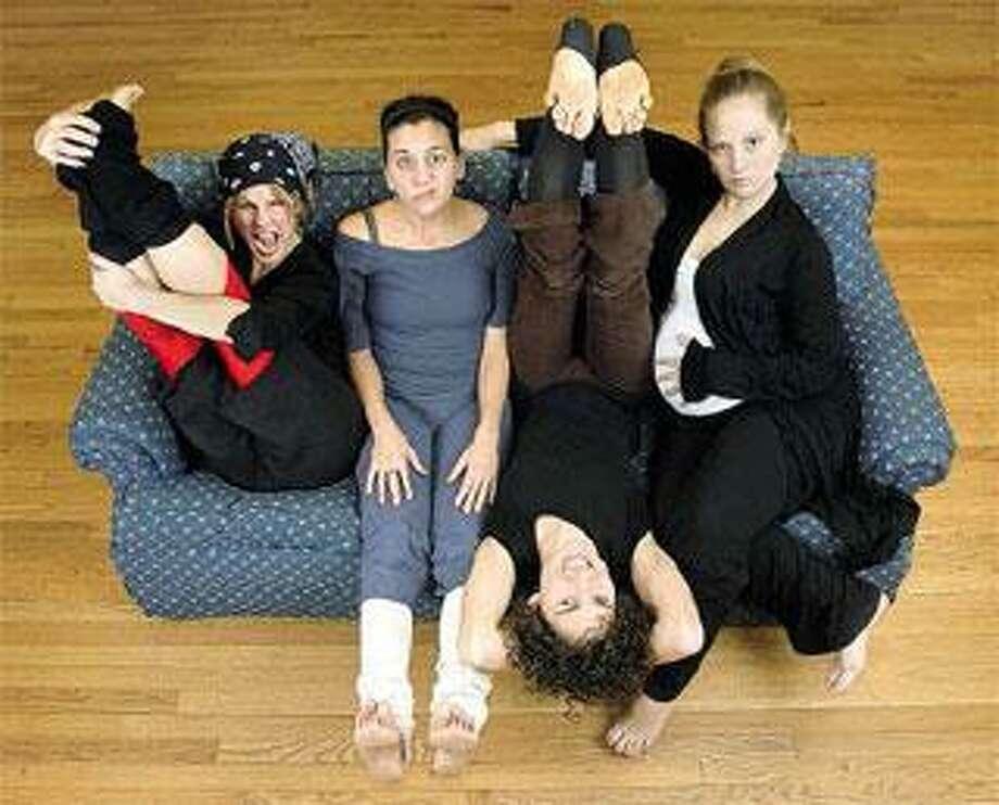 Elm City Dance Collective founders Kellie Ann Lynch, Jennifer Brubacher, Lindsay Bauer and Emilia VandenBroek prepare to take their latest project on the road. (Brad Horrigan/Register)
