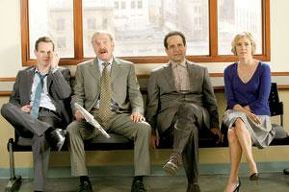 """Gray-Stanford, left, Ted Levine, Tony Shalhoub and Traylor Howard star in the series finale of """"Monk,"""" which airs at 9 tonight on USA. (USA Network)"""