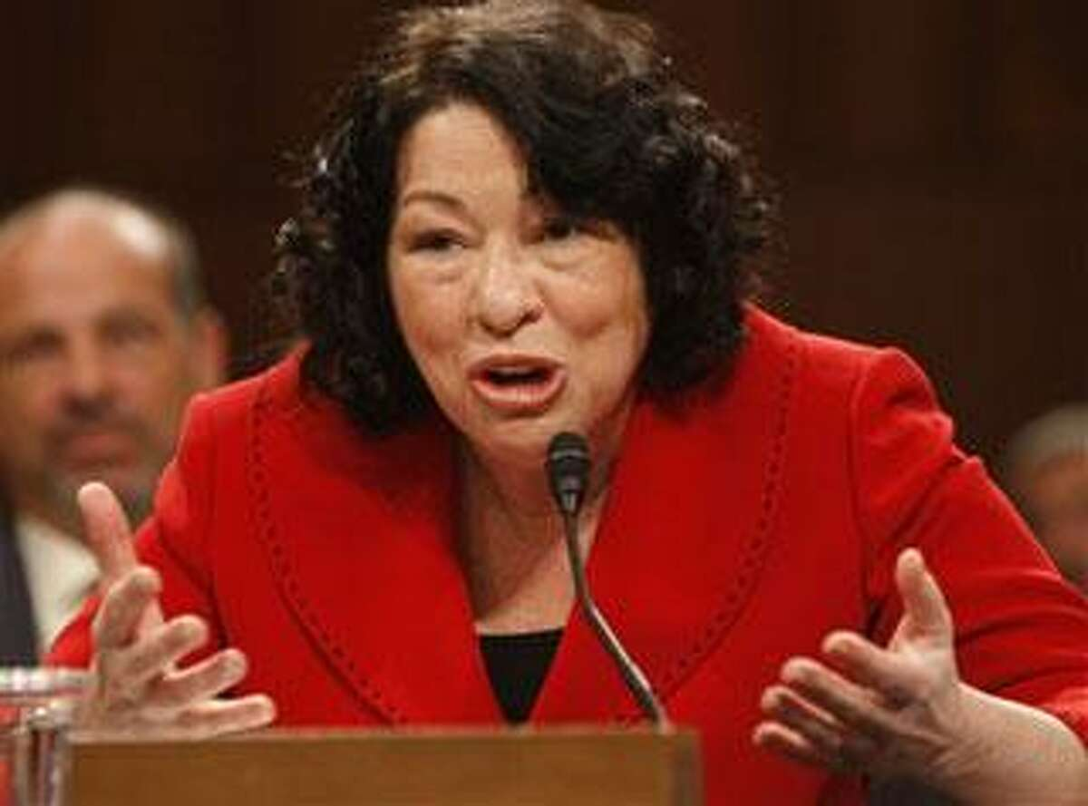 Supreme Court nominee Sonia Sotomayor testifies on Capitol Hill in Washington, Tuesday, July 14, 2009, before the Senate Judiciary Committee. (AP Photo/Ron Edmonds)