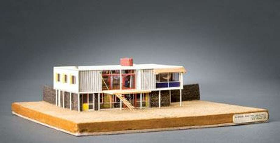 """James Stirling's """"House for the Architect: presentation model."""" (Stirling/Michael Wilford fonds, Collection Centre Canadien d'Architecture/Canadian Centre for Architecture, Montreal)"""