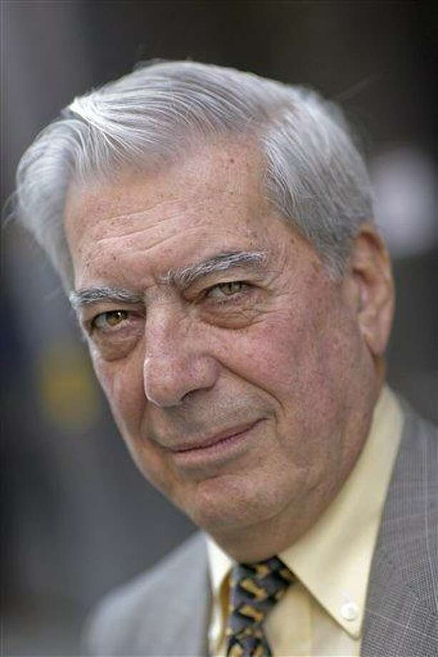 """This May 5, 2006 file photo shows Peruvian author Mario Vargas Llosa in Stockholm, Sweden. Peruvian Mario Vargas Llosa, one of the most acclaimed writers in the Spanish-speaking world who once ran for president in his homeland, won the 2010 Nobel Prize in literature on Thursday. The Swedish Academy said it honored the 74-year-old author """"for his cartography of structures of power and his trenchant images of the individual's resistance, revolt and defeat."""" (AP Photo/Scanpix/Fredrik Persson, file) **  SWEDEN OUT  ** Photo: AP / SCANPIX SWEDEN"""