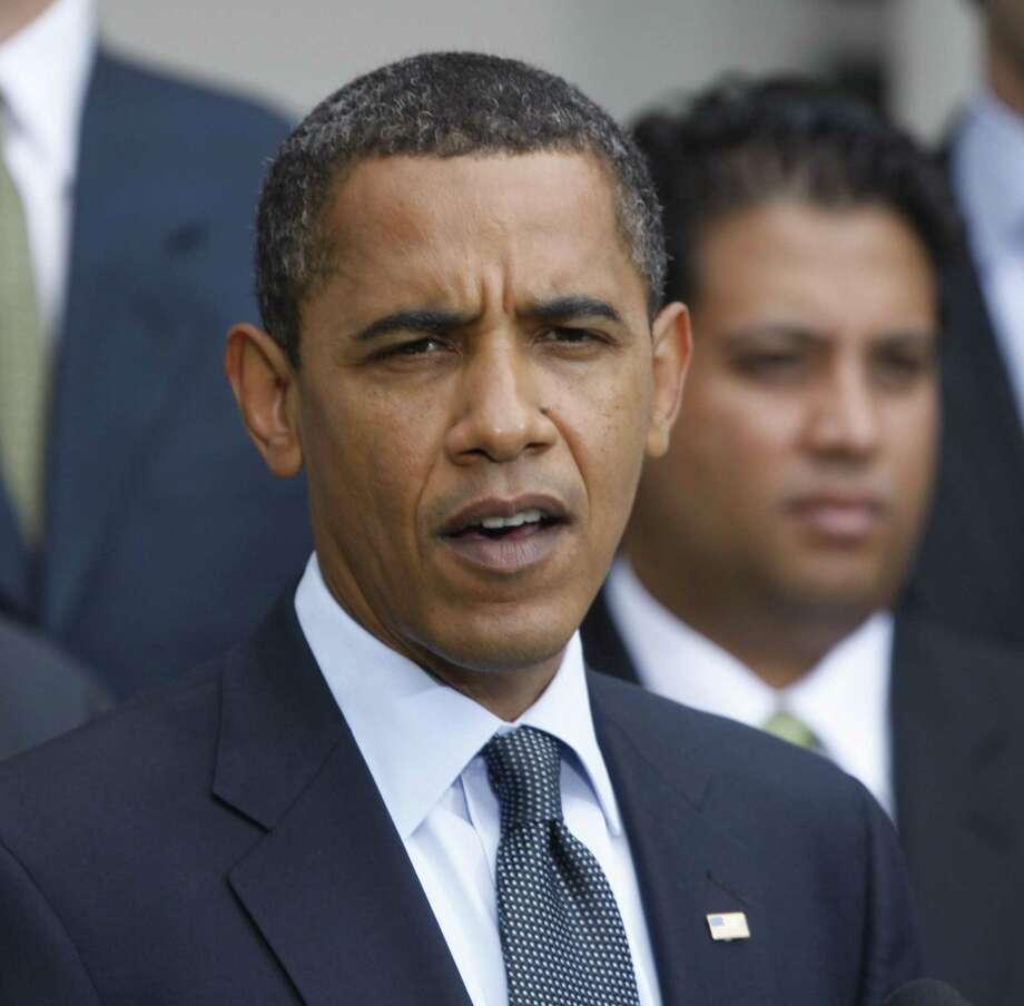 President Barack Obama at a press conference in Washington on Thursday. (AP Photo/Pablo Martinez Monsivais) Photo: AP / AP