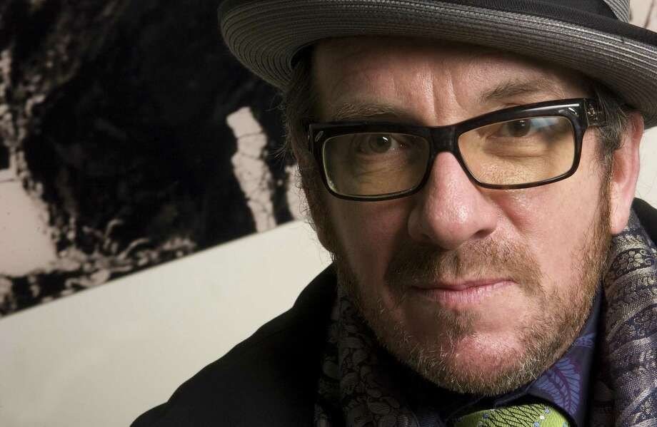 FILE -- In a Nov. 6, 2008 file  photo singer Elvis Costello is photographed in New York. Costello is canceling two summer 2010 concerts in Israel because of its treatment of the Palestinians.  (AP Photo/Jim Cooper/file) Photo: ASSOCIATED PRESS / AP2008