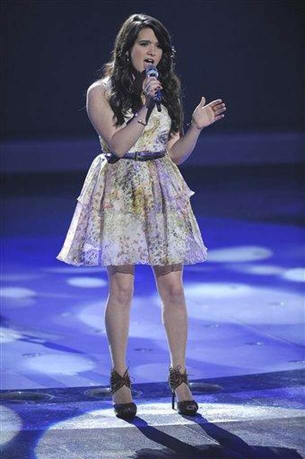 "Katie Stevens performs on ""American Idol"" on March 16. (AP Photo/Fox, Michael Becker) Photo: AP / FOX"