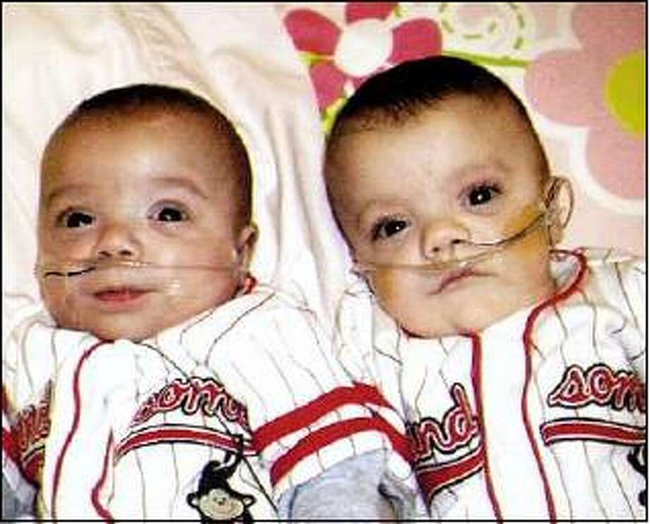 Contributed photo  The Angels Foundation was a godsend for Luca and Matteo, who were born 15 weeks early.