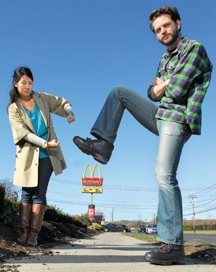 Isadora Tang and Ben Beinecke, co-founders of MyLu Foods, comprise one of 10 teams involved in a Yoxi competition to reinvent fast food. (Brad Horrigan/Register)