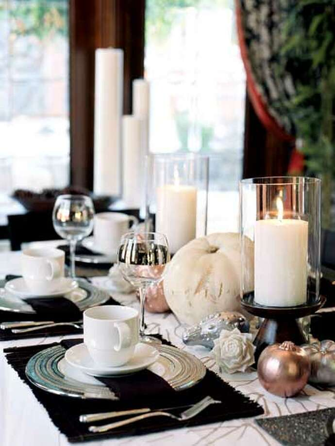 HGTV.com contributor Erinn Valencich sets a holiday table dressed with nontraditional color schemes.