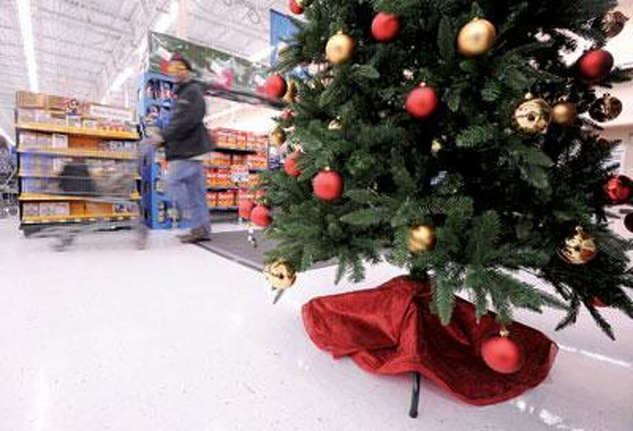 Wal-Mart has begun decorating for the holidays early this year. (Brad Horrigan/Register)