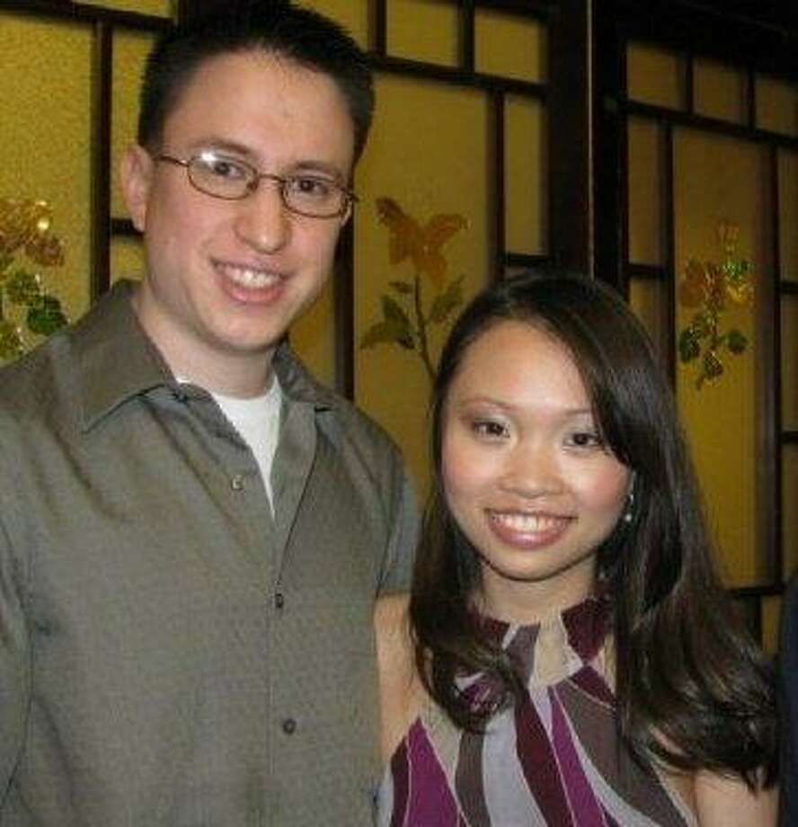 Annie Le and her fiance, Jonathan Widawsky, in an undated photo