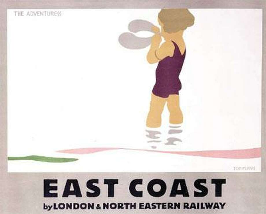 """East Coast: The Adventuress,"" by Tom Purvis was called a ""masterpiece"" by The Times of London. (National RailwayMuseum/SSPL)"
