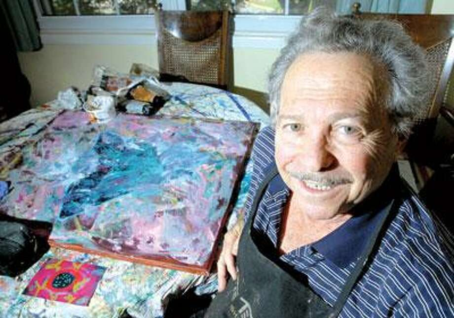 """Artist Al """"Coyote"""" Weiner is showing his works at the Woodbridge Library. (Arnold Gold/Register)"""