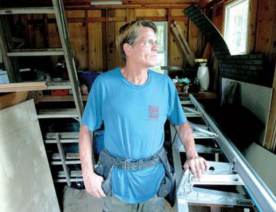 Billy Twyford of All Aspects of Carpentry in the shed at his home in North Branford. (Arnold Gold/Register)