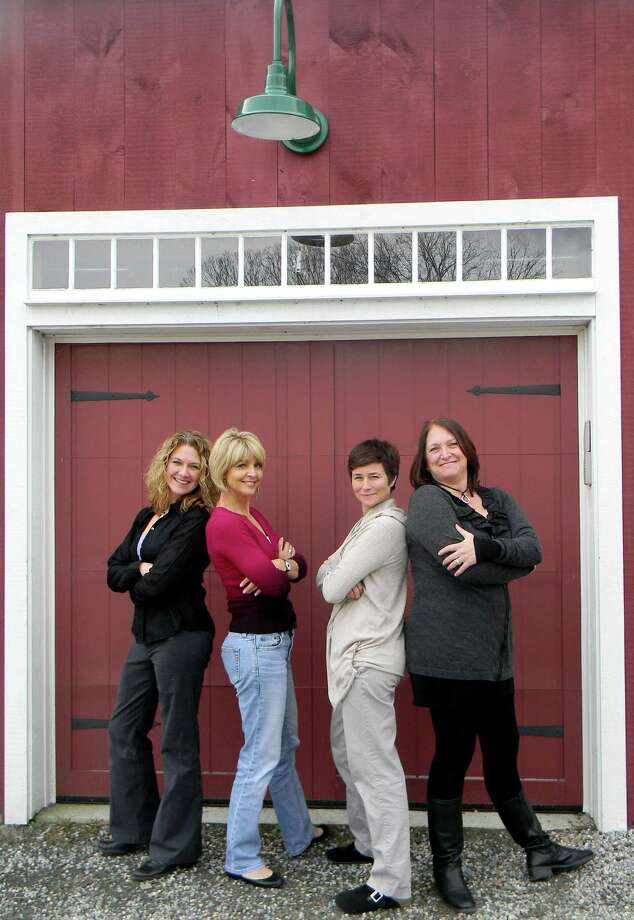 "L to r, Heather Colby, Ann Nyberg, Carol Dahlke and Anna Rubino, who refer to themselves as a ""brewed cup of hustle,"" have in four short weeks pulled together a major fundraiser called ""A Connecticut Christmas"" to benefit Connecticut Food Bank and Tiffany Farms in Lyme where a fire destroyed two farms, including one that shelters young cows in winter"