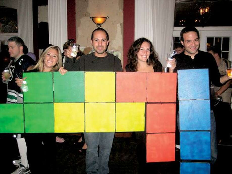 Contributed photo, Bailor Benedetti, left, D.J. Corderio, Nicole Lebreux and Brian Caromile showed up at a New Haven Halloween party as the famed game.