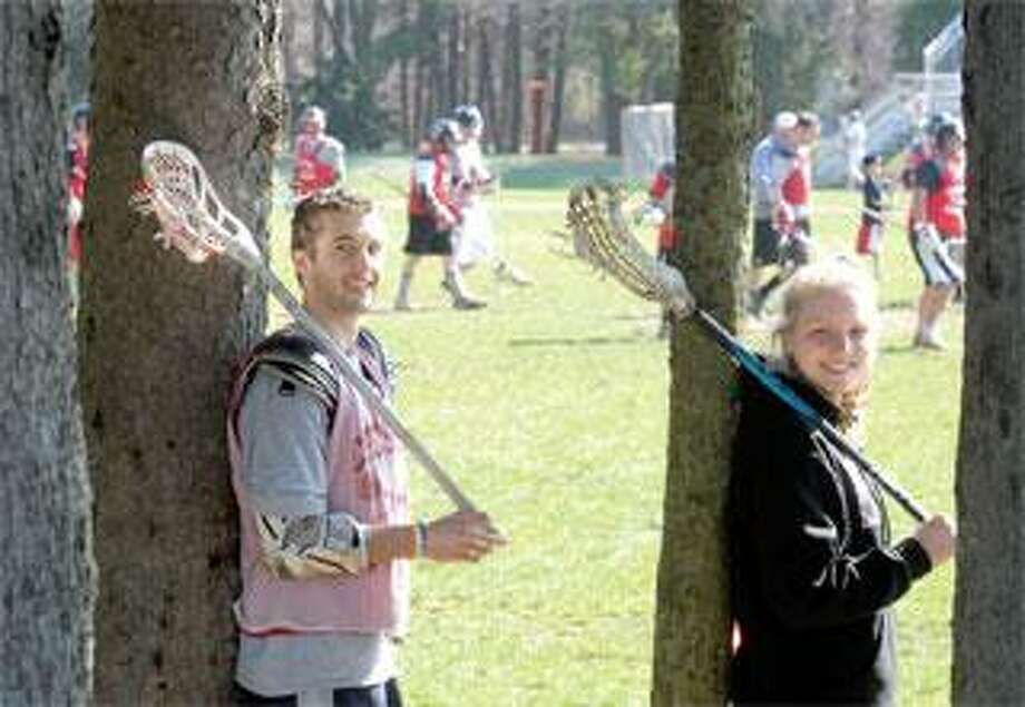 Cheshire senior lacrosse players Todd Heritage and Katharine Eddy are each coming off of injuries and hope to end their high school careers in style. (Peter Hvizdak/Register)