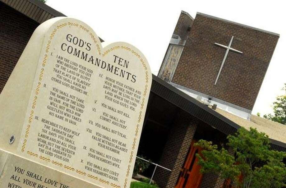 Christ the Redeemer Church on Oronoque Road in Milford. (Brad Horrigan/Register)